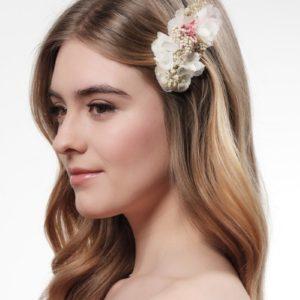Haarkamm mit echten Blüten