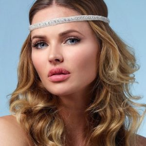 Haarband Silber schmal