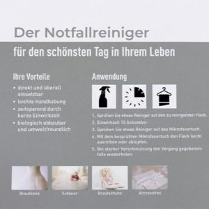 NOTFALL-Fleckenentferner für Brautkleider