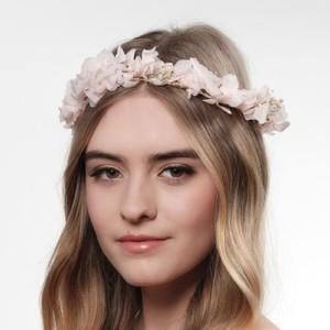 Blumenkranz aus echten Blüten in Rosa