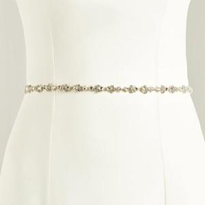 Brautgürtel mit Ziersteinbesatz 1cm