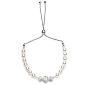 Perlenarmband mit Schiebeverschluss und Swarovskikristallperlen
